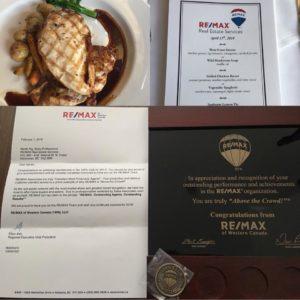 RE/MAX 100% Club Achievement 2017