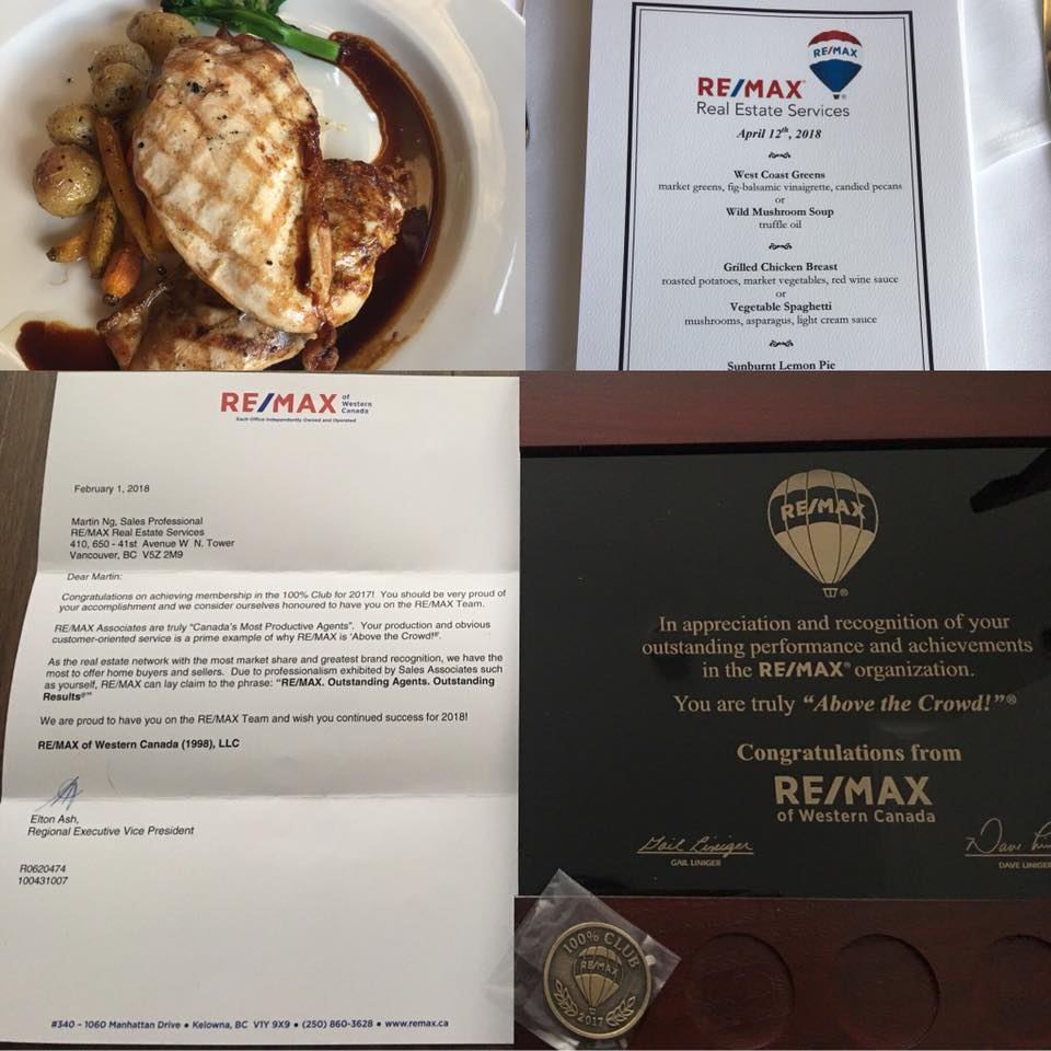 RE/MAX 100% Club Achievement 2017